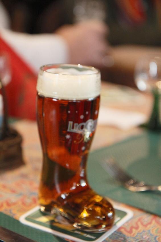 verre a biere de noel licorne